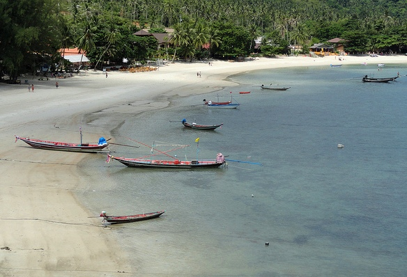 Thong Nai Pan Yai Beach, from the Southern end looking North, Koh Phangan
