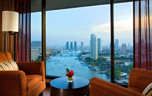 Great View from a Towers Executive Room at Royal Orchid Sheraton in Bangkok