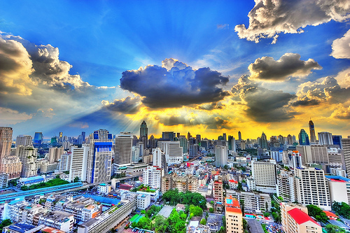 Clouds and Skyscapers, Bangkok