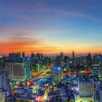 Sunset in Bangkok