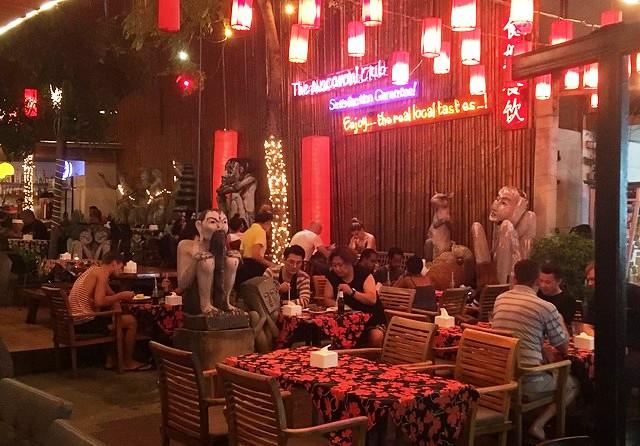 Cafe at Soi Rambuttri, near Khao San Road, Banglamphu, Bangkok, Thailand