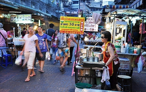 A Street in Chinatown in Bangkok