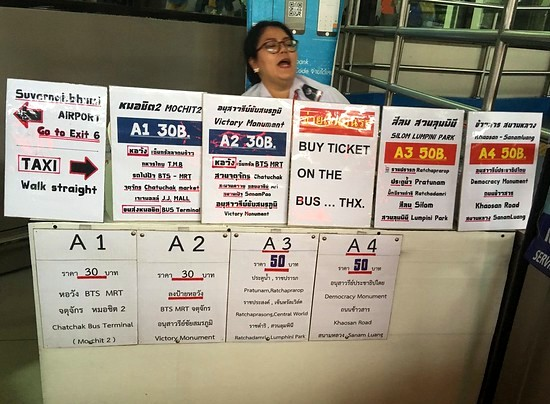 Don Mueang Airport, A1 A2 A3 A4 Bus Info Counter, Bangkok, Thailand