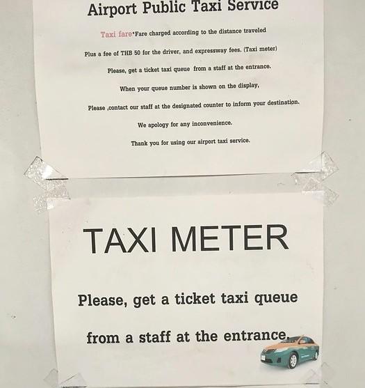Don Mueang Airport Public Taxi Counter Service, Bangkok, Thailand