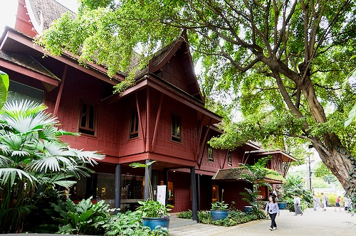 A Photo of Jim Thompson's House in Siam District, Bangkok