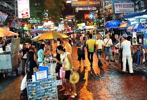 A Night Shot of Khao San Road, Banglamphu, Bangkok