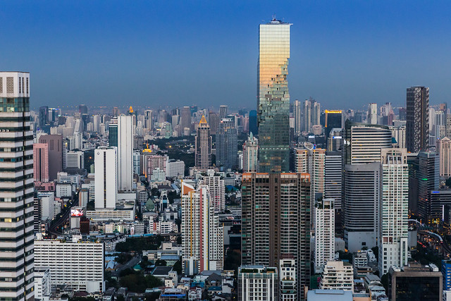 King Power Mahanakhon and Silom Skyline from Lebua at State Tower, Bangkok, Thailand