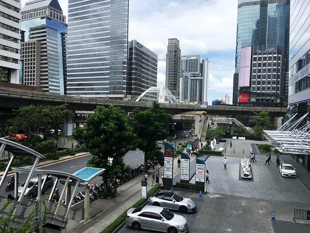 Sathorn Square from Chong Nonsi BTS, Silom, Bangkok, Thailand
