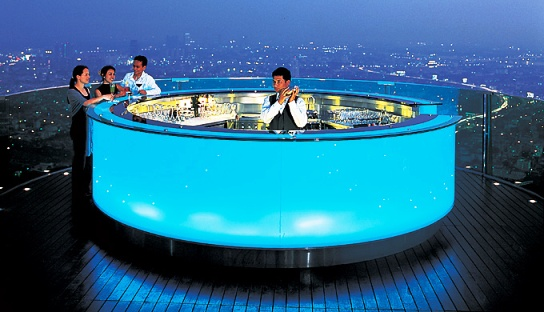 Sky Bar on top of Lebua Hotel at State Tower in Bangkok, Thailand