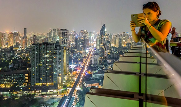 Sukhumvit Road from Octave Rooftop Lounge & Bar, Marriott Sukhumvit, Bangkok