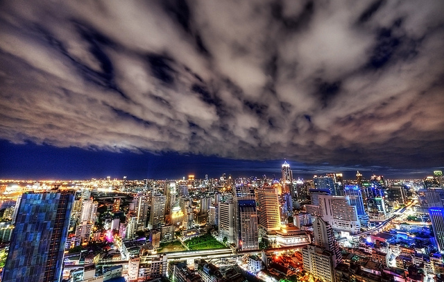 Night View of Sukhumvit, Bangkok, Thailand