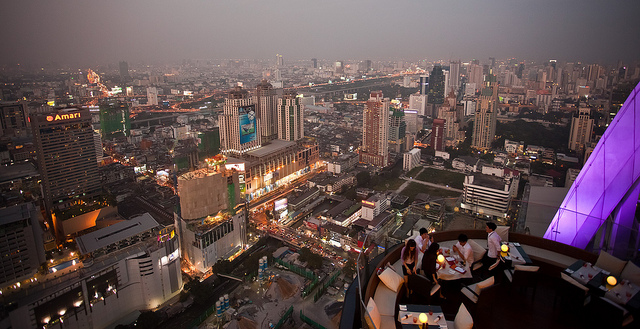 Centara Grand Hotel at Central World, Red Sky Bar, Bangkok, Thailand