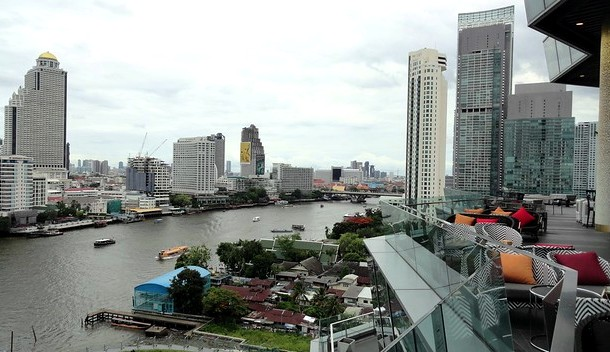 Lebua at State Tower and Chao Phraya River from ICONSIAM Mall, Bangkok, Thailand