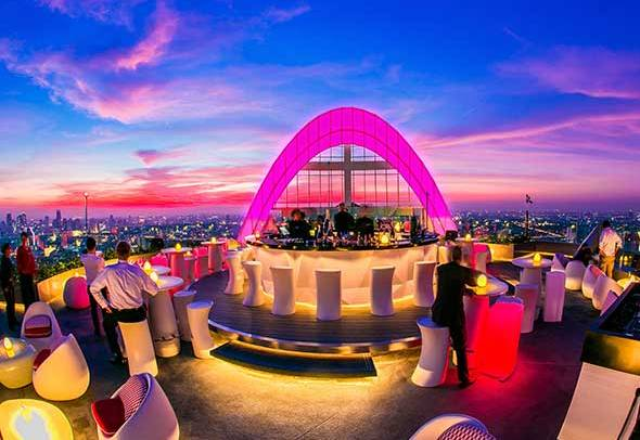 Cru Champagne Bar at Red Sky Bar, Centara Grand at Central World, Bangkok, Thailand