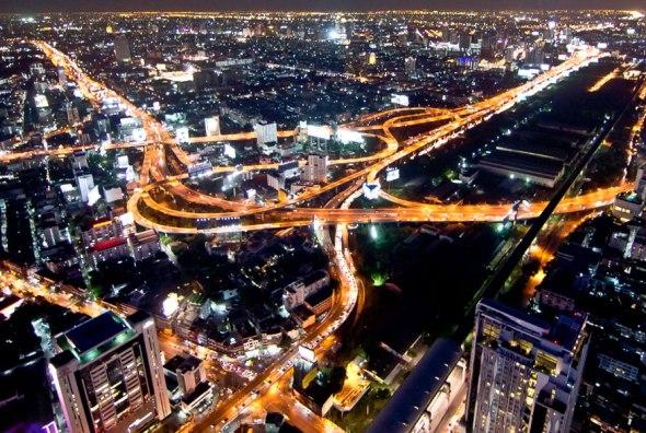 Night View from Baiyoke Sky Bangkok