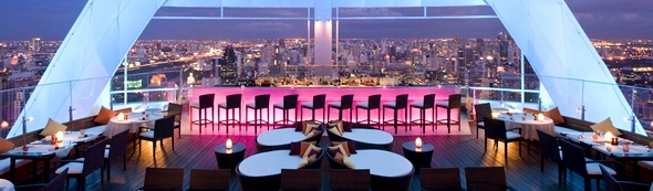 Red Sky Bar at Centara Grand at Central World Hotel in Bangkok, Thailand