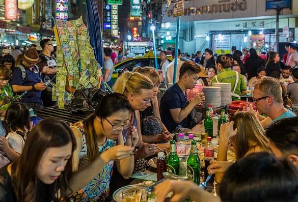Street Restaurant, Chinatown, Bangkok, Thailand