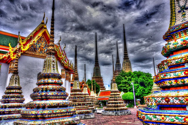Exploring the Wat Pho, Bangkok, Thailand