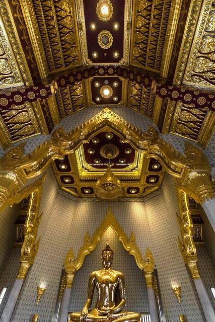 Golden Buddha, Wat Traimit, Chinatown, Bangkok, Thailand