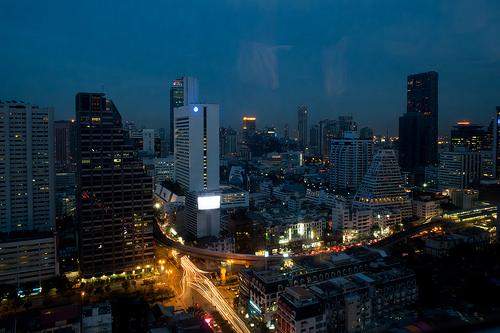 Silom Road by Night, Bangkok