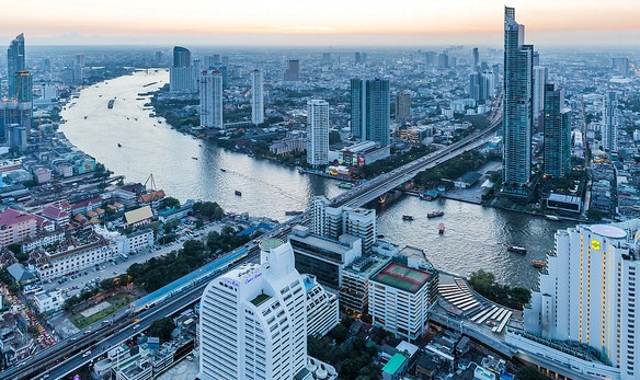 View of Bangkok from Lebua at State Tower, Thailand