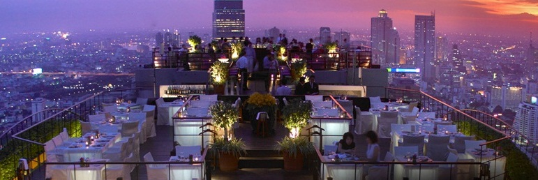 A View of Vertigo and Moon Bar, Banyan Tree, Bangkok, Thailand