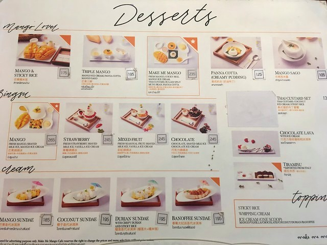 Desserts, Make Me Mango (Mango Café), Maha Rat Road, near Wat Po, between Tha Tien Pier and Rajinee Pier, Bangkok, Thailand