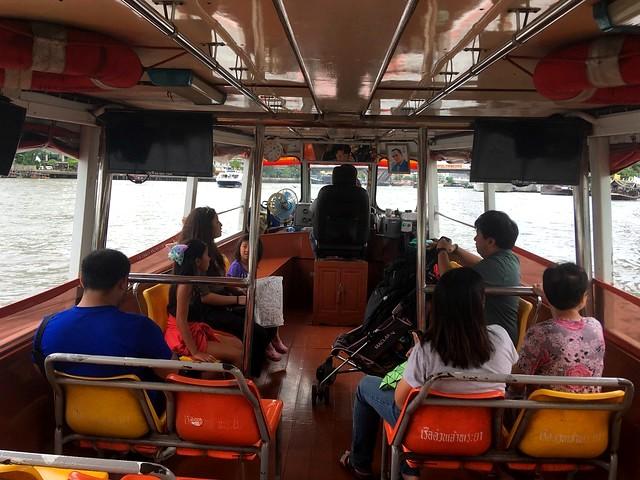 Kids Aboard Chao Phraya Express Boat, Bangkok, Thailand
