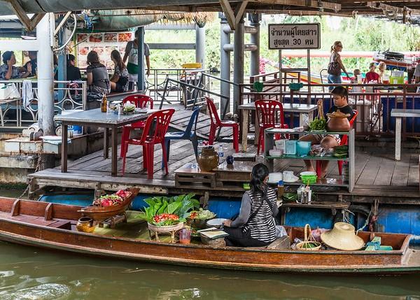 Klong Tour, Taling Chan Floating Market, Chakphra Canal, Thonburi, Bangkok, Thailand