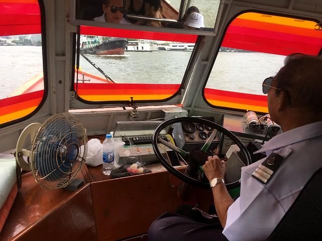 The Helmsman, Chao Phraya Express Boat, Bangkok, Thailand