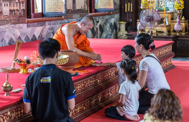 Visiting Wat Arun with Children, Bangkok, Thailand