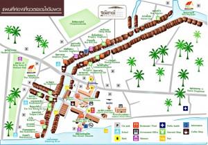 Map of Amphawa Market
