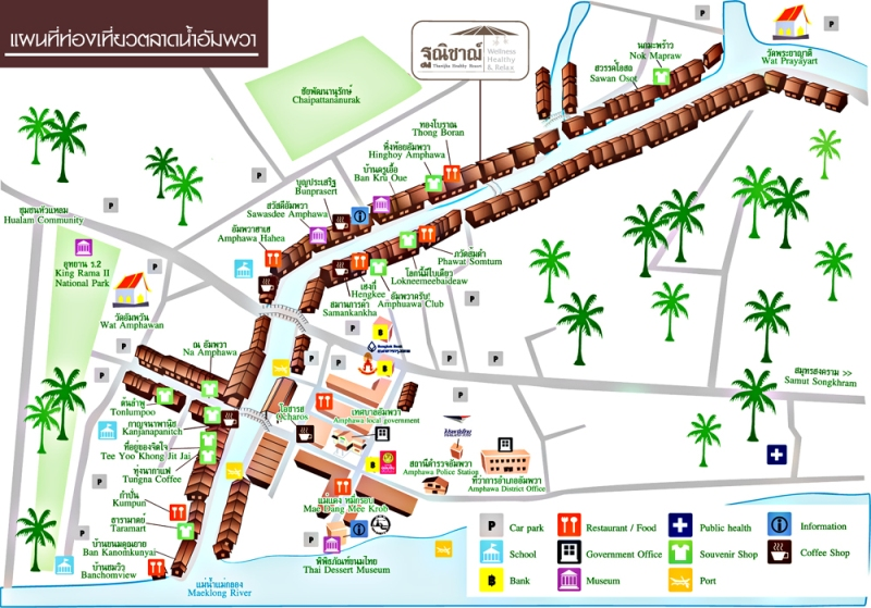 Map of Amphawa Market