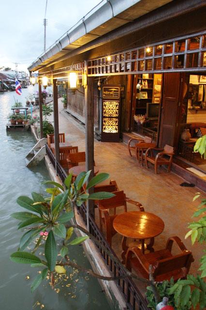 Canalside, Amphawa, Thailand