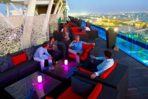 A Photo of Relax@12 Rooftop Bar at A Loft Abu Dhabi Hotel