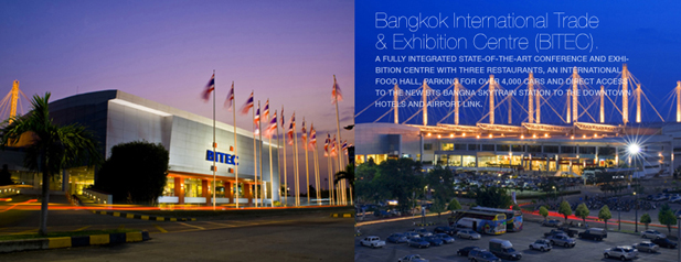 Two Photos of BITEC Bangkok International Trade & Exhibition Centre