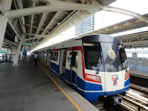 A Photo of BTS Skytrain in Bangkok