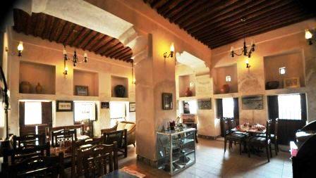 Interior of Bait Al Wakeel Heritage Restaurant in Bur Dubai