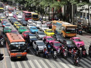 A Photo of the Traffic in Bangkok
