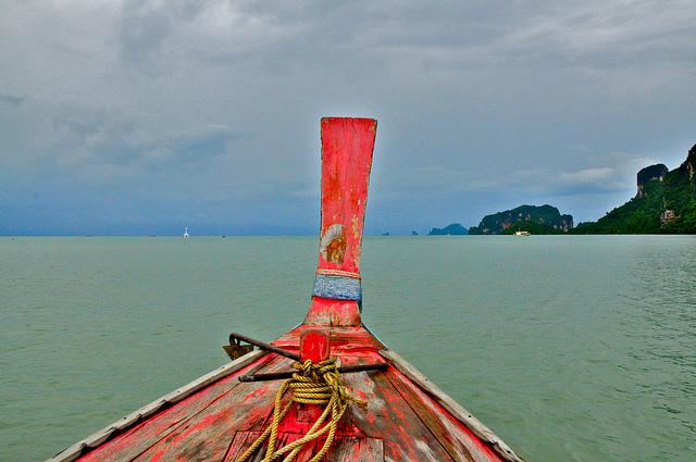 Aboard a Longtail Boat to Krabi