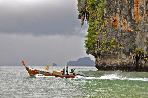 Longtail and the Storm! Krabi, Thailand