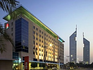 A Photo of Hotel Ibis Dubai World Trade Center With Jumeirah Emirates Towers in the Background