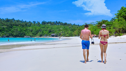 The Beach at Koh Racha, an Island 12 Miles South of Phuket