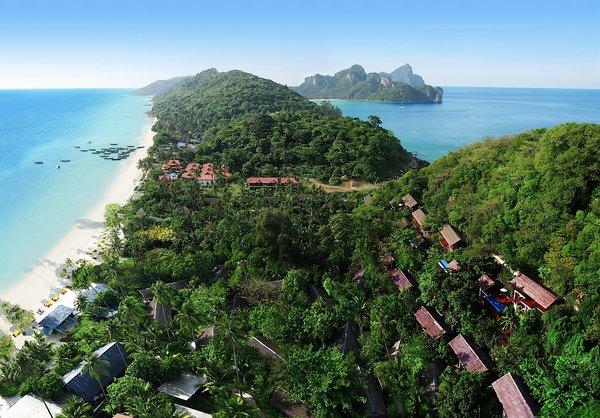 An Aerial View of Laem Thing Beach, Phi Phi Island