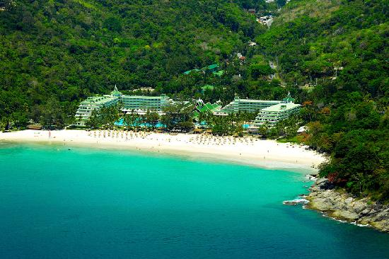 An Aerial Shot of Relax Bay with Le Méridien Phuket Hotel