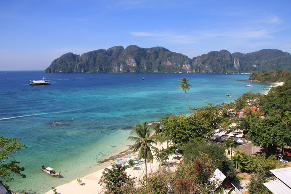 A Shot of Long Beach and Tonsai Bay, Phi Phi Island