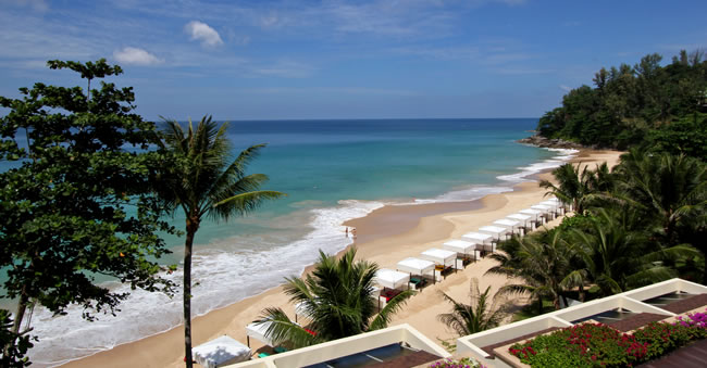 Nai Thorn, the Beach of Andaman White Beach Resort in Phuket