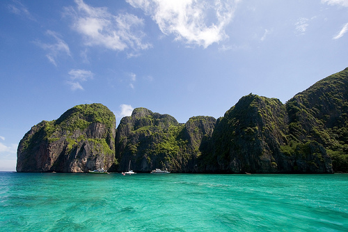 A Great Shot of Tonsai Bay's West Side, Phi Phi Island