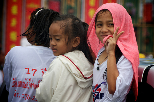 Children in Phuket Town, Thailand