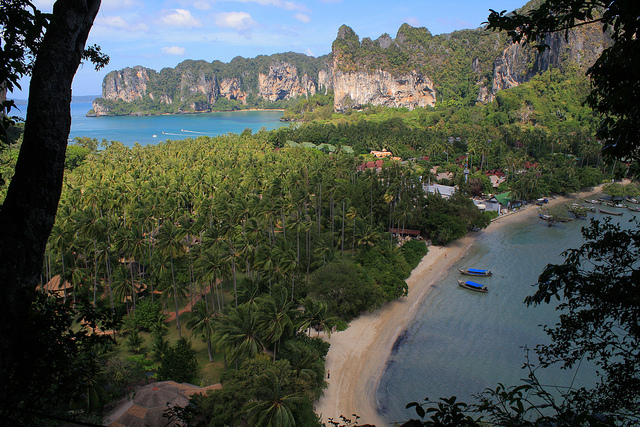 A Photo of Railay Area from the Viewpoint in Krabi, Thailand